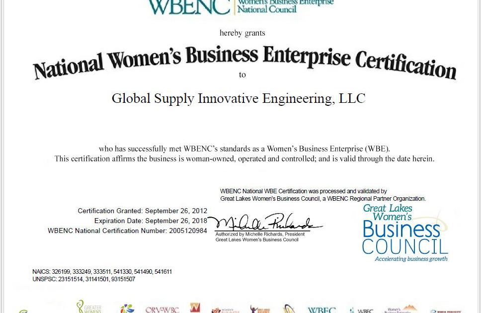 Certifications - GSI Engineering